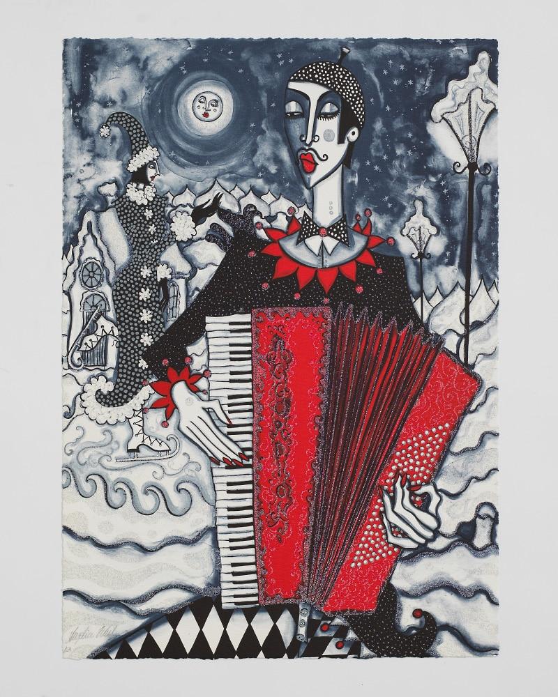 Angelica Wiik - Litografi - Isdans