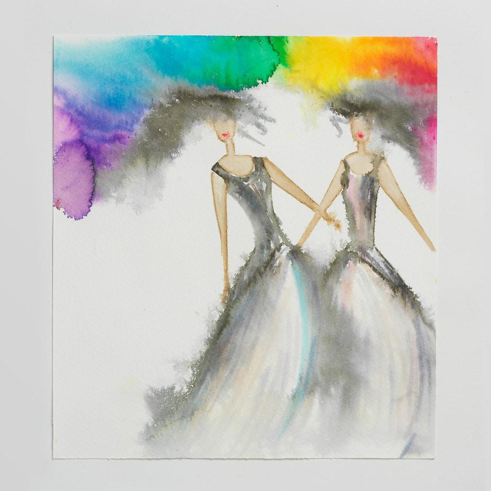Sara Flodén - Akvarell - Amor II