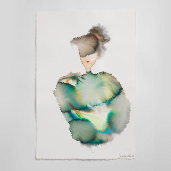 Sara Flodén - Akvarell - Susana