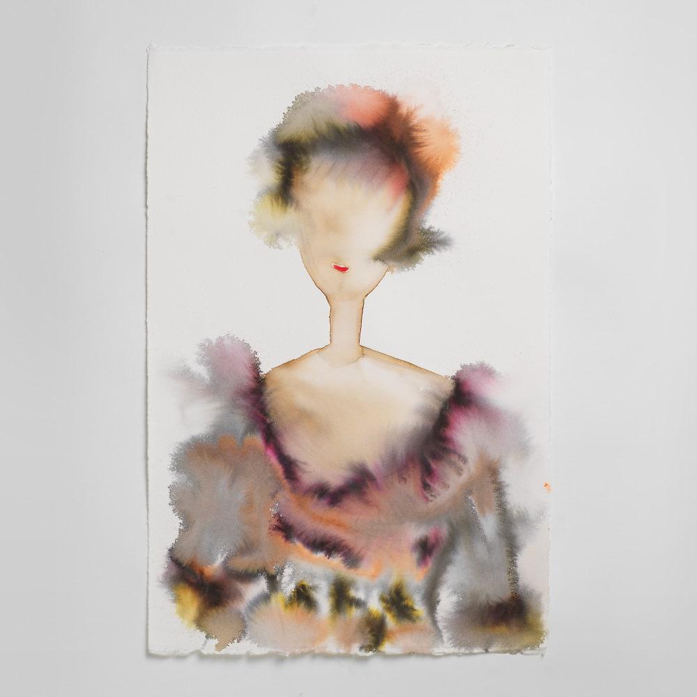 Sara Flodén - Akvarell - Trella