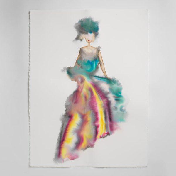 Sara Flodén - Akvarell - Serefina
