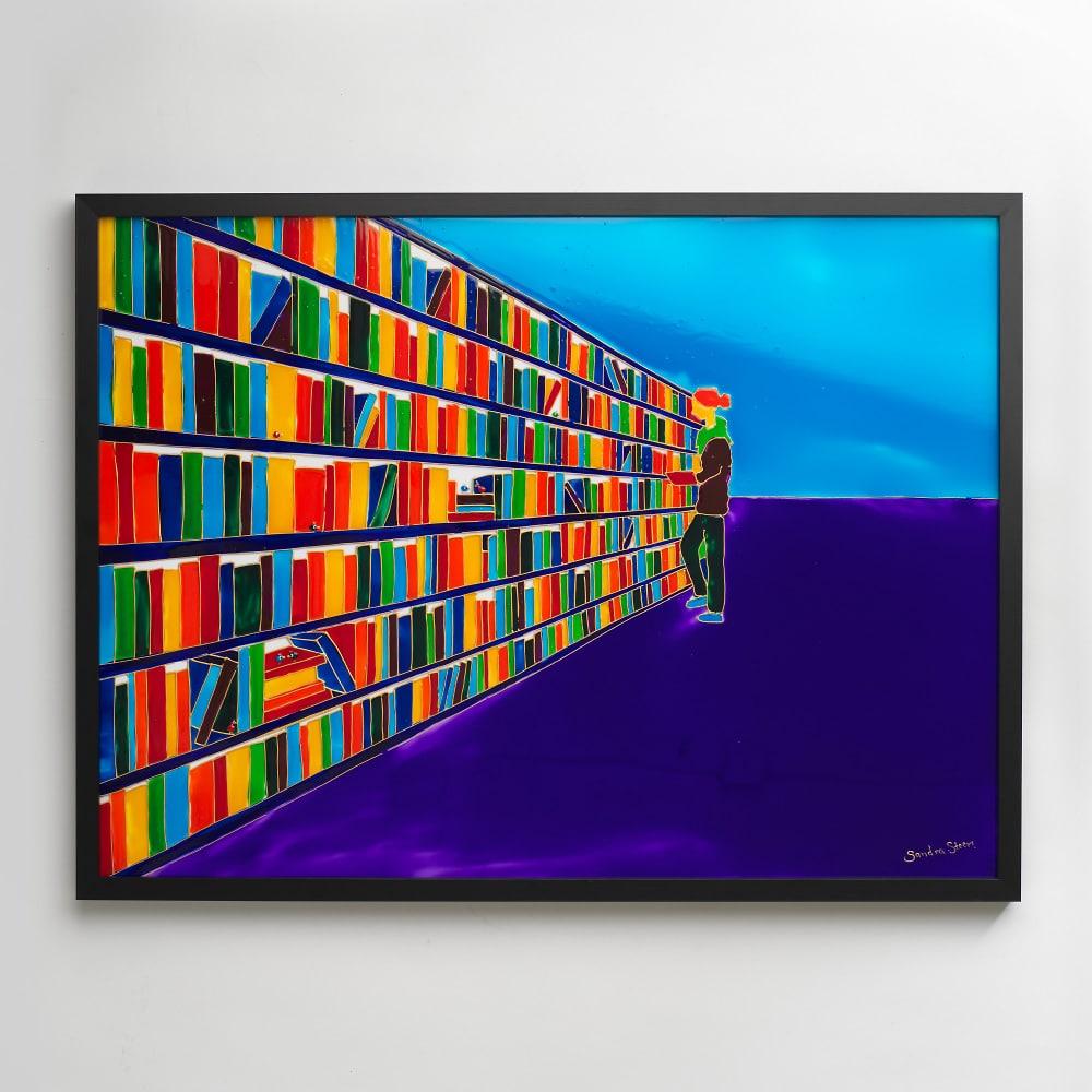 Sandra Steen - Originalmålning på glas - Biblioteket