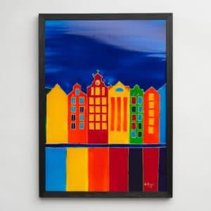 Sandra Steen - Originalmålning på glas - Gamla Stan