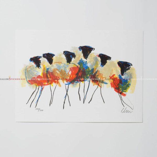 Anders Palmér - Litografi - Family