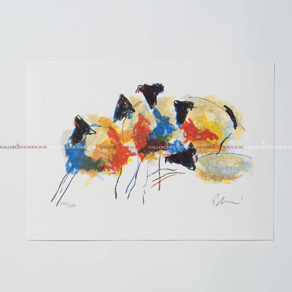 Anders Palmér - Litografi - Shuffling