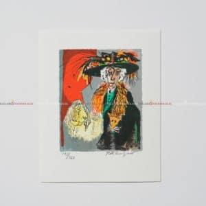 Bo Erik Lundqvist - Litografi - Lady in Black