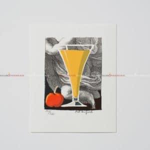 Bo Erik Lundqvist - Litografi - Bacardi Orange