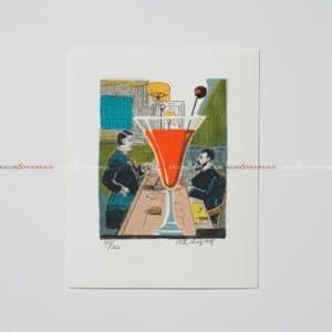 Bo Erik Lundqvist - Litografi - Manhattan