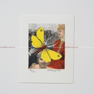 Bo Erik Lundqvist - Litografi - Yellow Dragonfly