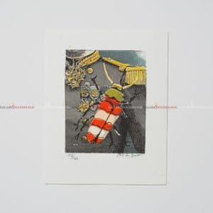 Bo Erik Lundqvist - Litografi - Kryp på uniformen