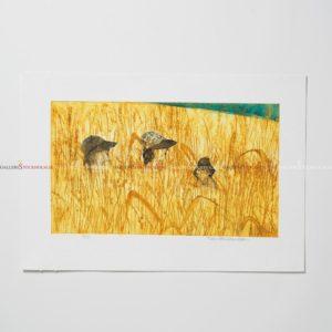 Karin Petri Wennström - Collografi - I Solen
