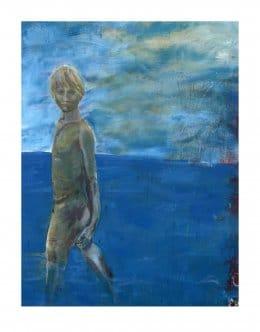 Mikael Persbrandt - Litografi - Pojke i vatten