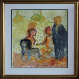 Peter Dahl - Akvarell - Fredagsmys