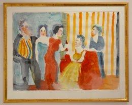 Peter Dahl - Akvarell - Uppvaktning