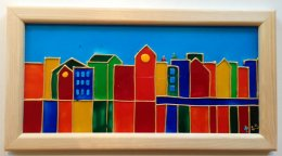 Sandra Steen - Oljemålning - Liten stad