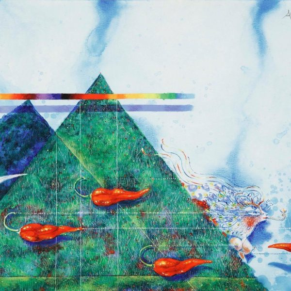 ARDY STRUWER – LITOGRAFI - GREENHOUSE PYRAMID DREAM