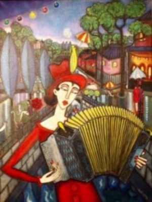 Oljemålning av Angelica Wiik köpa konst online.