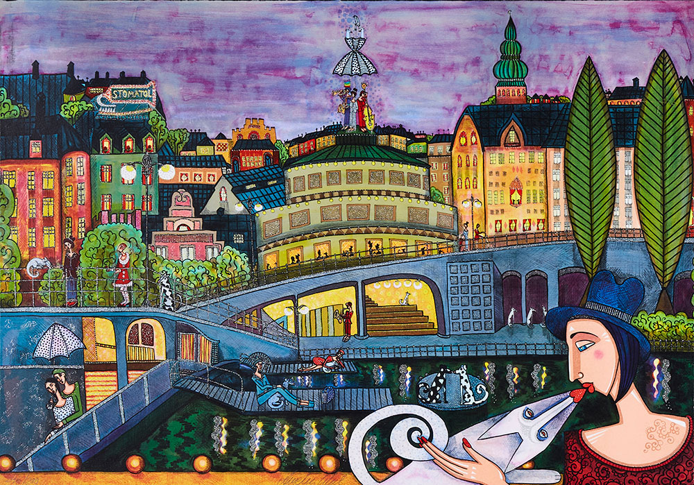 Angelica Wiik - Litografi - Memory Lane