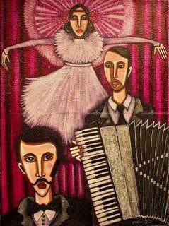 Angelica Wiik - Originalmålning - Musikanter