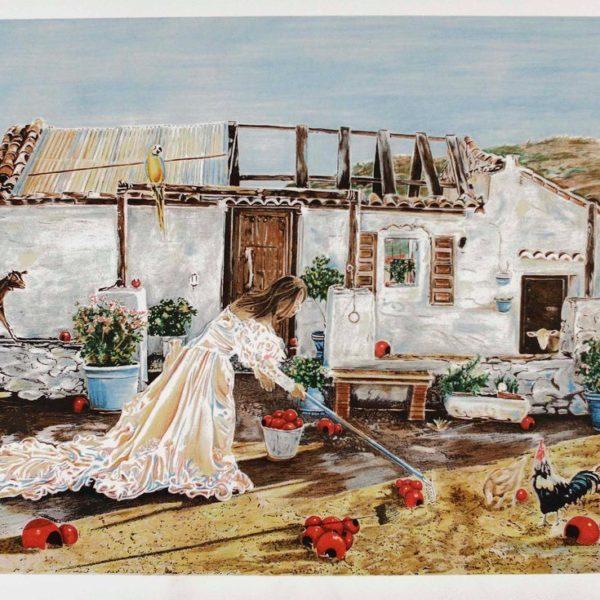 CAROLINE AF UGGLAS - LITOGRAFI - FARMEN