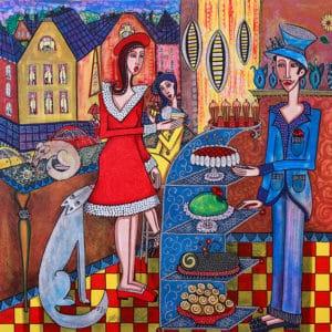 Angelica Wiik - Litografi - Cafe Ritorno