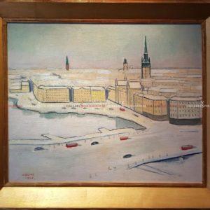 Einar Jolin - Oljemålning - Kornhamstorg