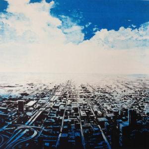 Joakim Allgulander - Litografi - Blue Scape