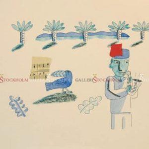 Jonas Fredén - Handkolorerad - Le Jazz