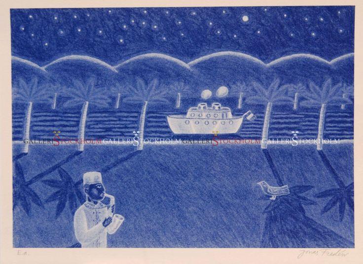Jonas Fredén - Litografi - A night in Tunisia