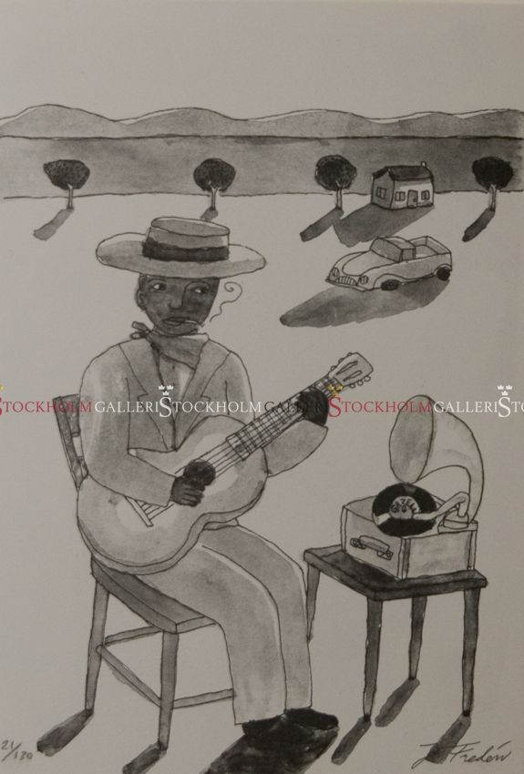Jonas Fredén - Litografi - Blues Down South