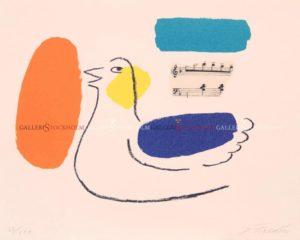 Jonas Fredén - Litografi - Fågel