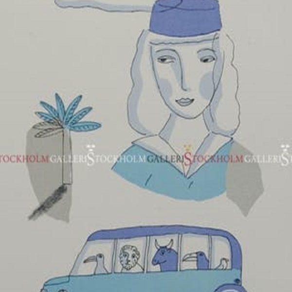 Jonas Fredén - Litografi - Resan Till Nice