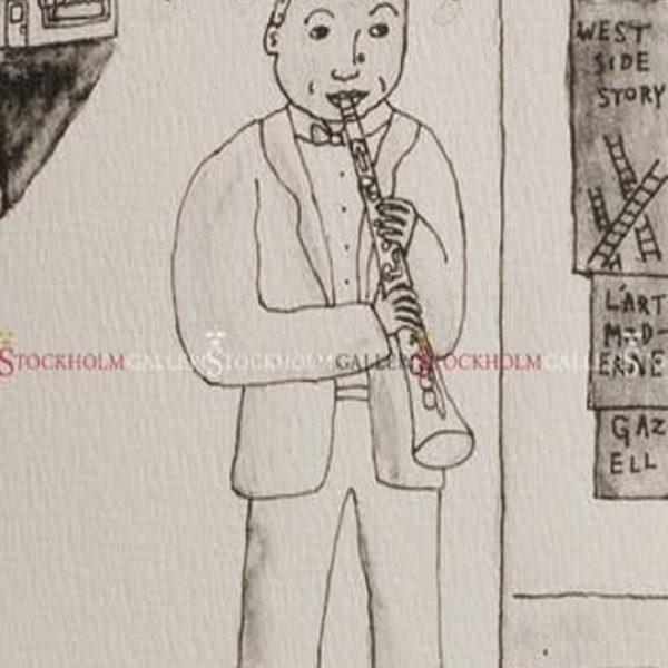 Jonas Fredén - Litografi - Sidney Bechet
