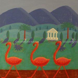 Jonas Fredén - Flamingos in the mountains