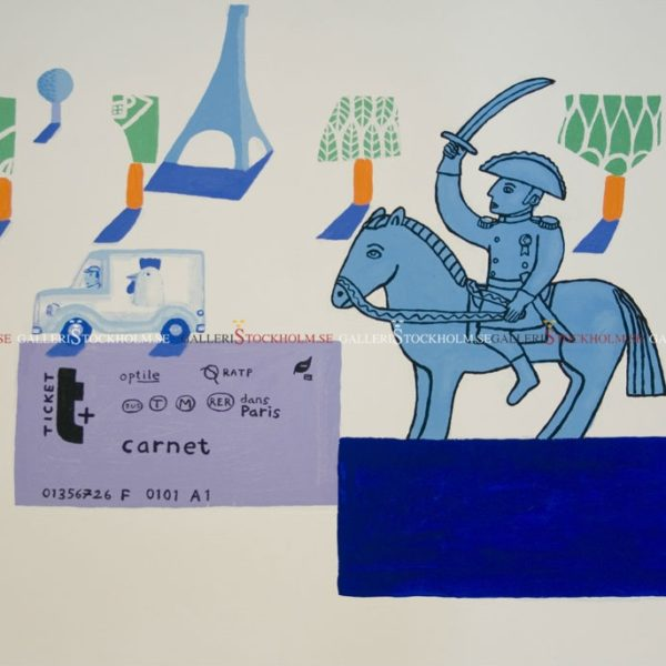 Jonas Fredén - Oljemålning - Paris