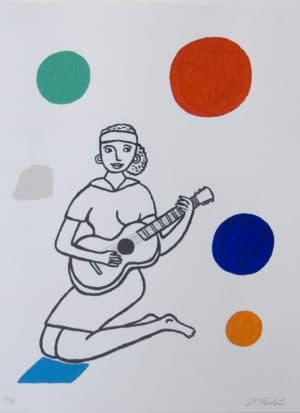 Jonas Fredén - Kvinna med gitarr