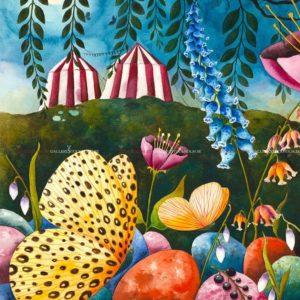 Josefina Wendel Carlsson - Akvarell - Circus Tonight