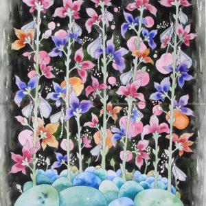 Josefina Wendel Carlsson - Oljemålning - Dragonflies