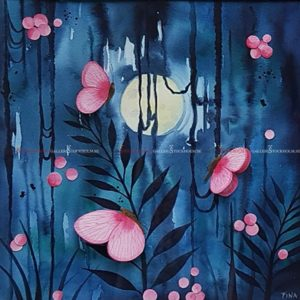 Josefina Wendel Carlsson - Akvarell - Moondance