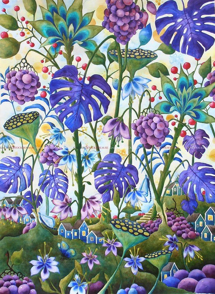 Josefina Wendel Carlsson - Akvarell - The Village