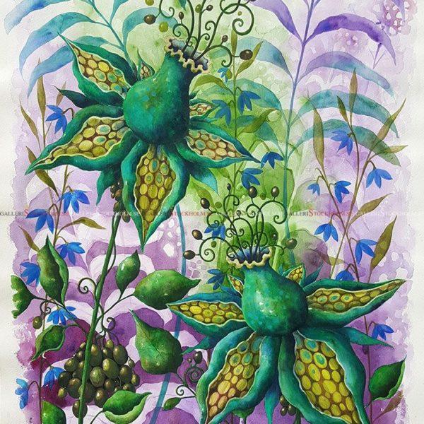 Josefina Wendel Carlsson - Akvarell - Trollberries