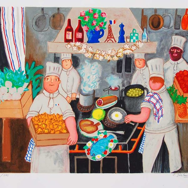Lennart Jirlow - Litografi - Restaurangköket