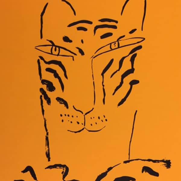 Madeleine Pyk - Litografi - Portfölj med alla tre tigrar