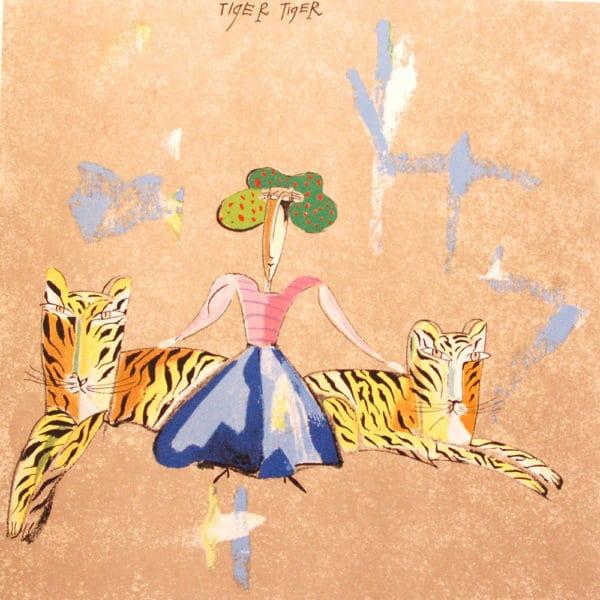 Madeleine Pyk - Litografi - Tiger Tiger