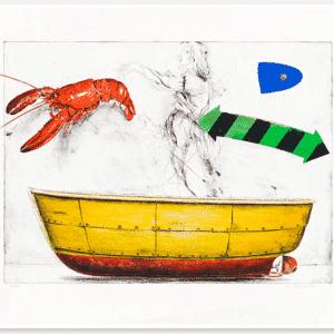 PG Thelander - Litografi - Längtan till havet