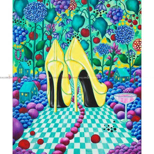 Josefina Wendel Carlsson - Gicléetryck - Next Time Ladies – Party shoes