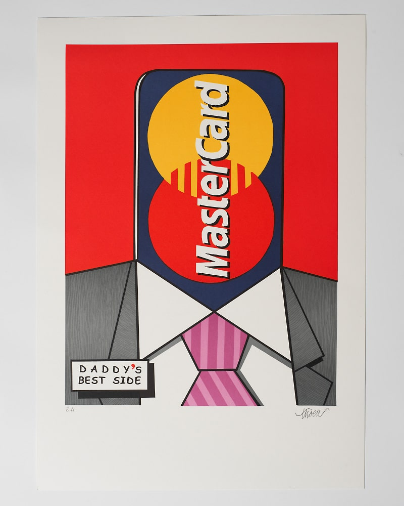 Petter Thoen - Litografi - Master Card - Daddy's Best Side
