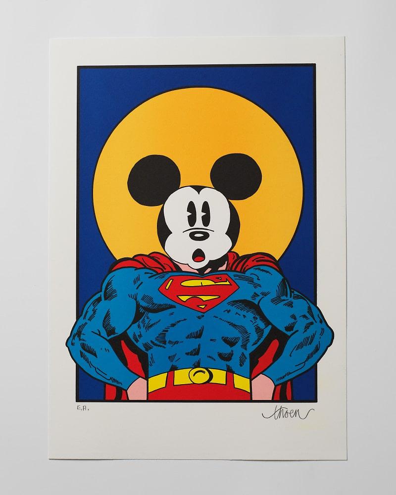 Petter Thoen - Litografi - Super Mickey