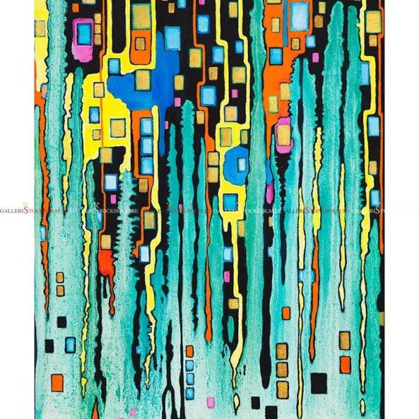 Josefina Wendel Carlsson - Gicléetryck - City Lights – Petroleum