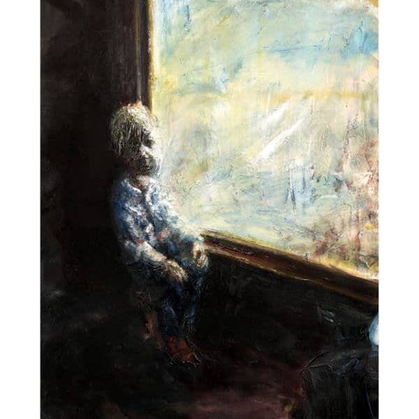 Mikael Persbrandt - Gicléetryck - Pojke på tåg